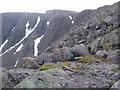 NN9599 : Retrospect of Braeriach summit ridge by Peter S