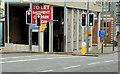 J3474 : Bus gate, Belfast (2) by Albert Bridge