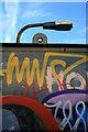 SK4743 : Graffiti and lamppost by David Lally