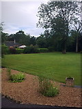 TM3876 : Back Garden at Highfield Residential Home by Adrian Cable