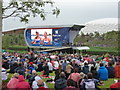 TQ3784 : Stratford: crowds watching the big screen at the Olympic Park by Chris Downer