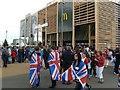 TQ3783 : A big queue at a big McDonald's by Graham Hogg