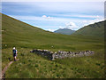NN2827 : Old sheepfold by Allt an Rund by Karl and Ali