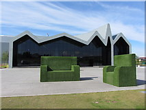 NS5566 : Glasgow's Riverside Museum entrance area by Gareth James