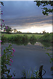 TL8063 : Storm clouds over the pond by Bob Jones