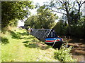SJ9307 : Working Narrow Boat Hadar moored near Moat House Bridge by Keith Lodge