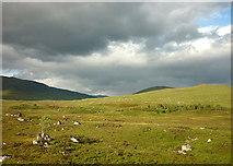 NN4259 : Moorland beside the railway by Karl and Ali