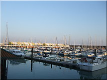 TQ3303 : Moorings in Brighton Marina by Paul Gillett