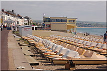 SY6879 : Pedalos on Weymouth beach in August 2012 by Roger Davies
