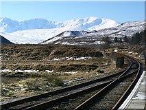 NH1658 : Railway line at Achnasheen by Uilleam Donnachaidh