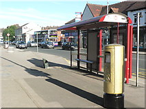 SE2337 : Gold Post Box, New Road Side (1) by Rich Tea