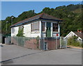 ST0894 : Disused signal box, Abercynon railway station by Jaggery