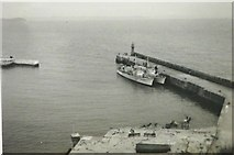 SW4628 : South Pier, Newlyn Harbour in 1943 by George Baker