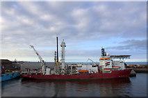 NJ9505 : Well Enhancer at Clipper Quay, Aberdeen by Mike Pennington