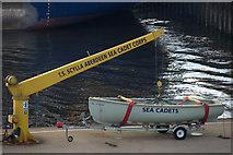NJ9505 : Sea Cadet boat on the Pilot Jetty, Aberdeen by Mike Pennington
