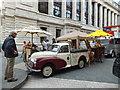 TQ2679 : Morris pick up in Exhibition Road South Kensington by PAUL FARMER