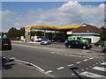 SZ1893 : Shell Garage, Somerford by Anthony Vosper