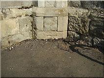TR3752 : Ordnance Survey bolt on St Andrews Church by Shantavira