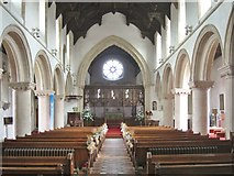 TL7835 : Interior of St. Nicholas' Church, Castle Hedingham, Essex by Derek Voller