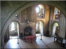 TL7835 : Interior of the Keep, Hedingham Castle, Essex by Derek Voller