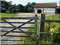 TF7939 : Traditional barn at Friar's Thorne Farm by Richard Humphrey