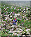 J3528 : Approaching the saddle in the Mourne Mountains by Rossographer