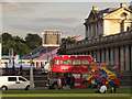 TQ3877 : The Band Sports bus in Greenwich by Stephen Craven