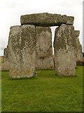 "SU1242 : Stonehenge  - ""hanging stone"" by David Dixon"