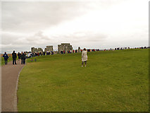 SU1242 : Visitors at Stonehenge by David Dixon