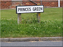 TM3876 : Princes Green sign by Adrian Cable