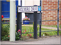 TM3877 : Holmere Drive sign by Adrian Cable