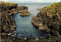 C9242 : Cliffs and bay, Portballintrae by Albert Bridge