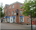 SN4120 : Large coffee pot on the corner of the Nationwide branch, Carmarthen by Jaggery