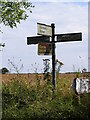 TM4169 : Roadsign on Westleton Road by Adrian Cable