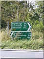 TM4171 : Roadsigns on the A12 London Road by Adrian Cable