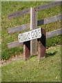TM4073 : Pitman's Grove sign by Adrian Cable