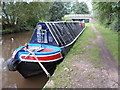 SK1115 : Working Narrow Boat Hadar moored at Bridge No.55, near King's Bromley by Keith Lodge