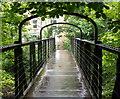 SK2958 : Footbridge over the River Derwent, Matlock Bath by Andrew Hill