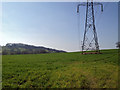 SP1265 : High voltage lines south of Oldberrow by Robin Stott