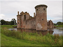 NY0265 : Caerlaverock Castle by Chris Andrews