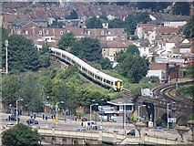TQ7369 : Railway incline at Strood by Patrick Mackie