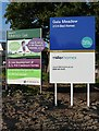 NT5135 : The signboard for Gala Meadow housing sheme by Walter Baxter