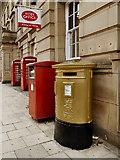 SD7109 : Gold Post Box (Jason Kenny), Bolton Deansgate by David Dixon