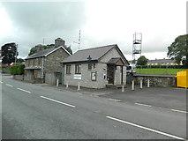 SN9768 : Police station, Rhayader by John Lord