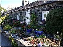 NN9357 : Cottage Garden, Port Na Craig Road by Andrew Curtis