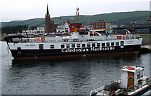 NS2059 : Ferry Loch Riddon at Largs Pier by Thomas Nugent
