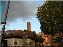 TQ3180 : View of the Tate Modern chimney from the South Bank by Robert Lamb