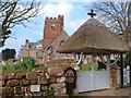SX9594 : Clapper Gate and church, Pinhoe by Derek Harper