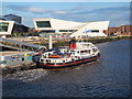 SJ3390 : Mersey ferry 'Royal Iris of the Mersey' leaving Liverpool pierhead by Richard Hoare