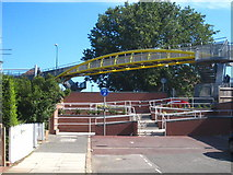 TQ2081 : Footbridge over the A40 at East Acton by Rod Allday